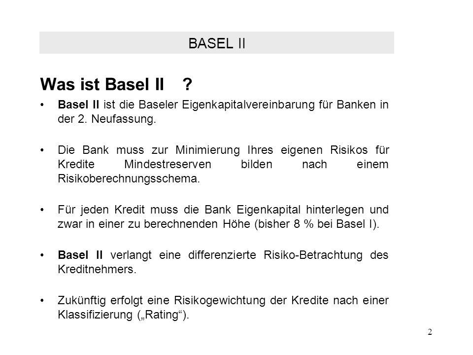 Was ist Basel II BASEL II