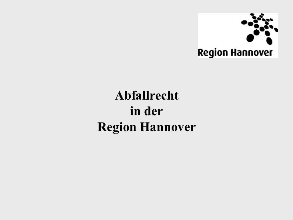 Abfallrecht in der Region Hannover