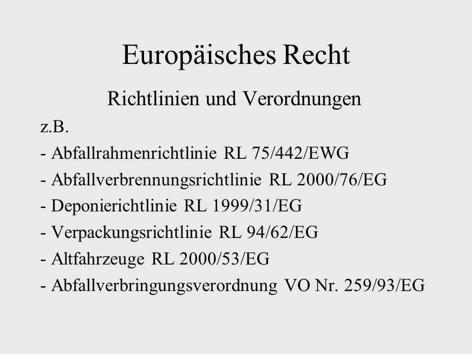 Richtlinien und Verordnungen