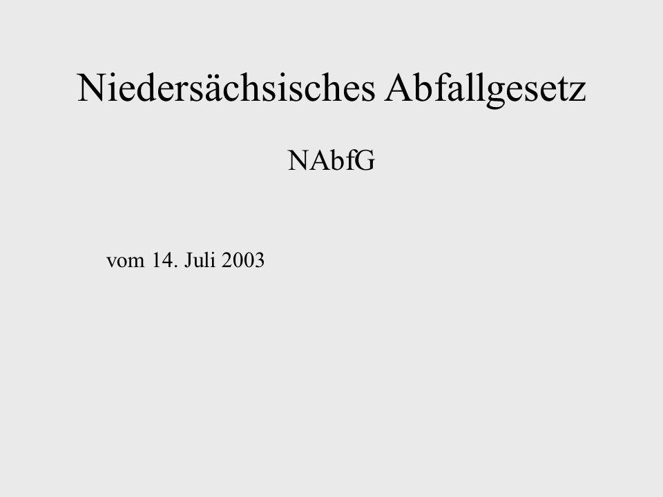 Niedersächsisches Abfallgesetz