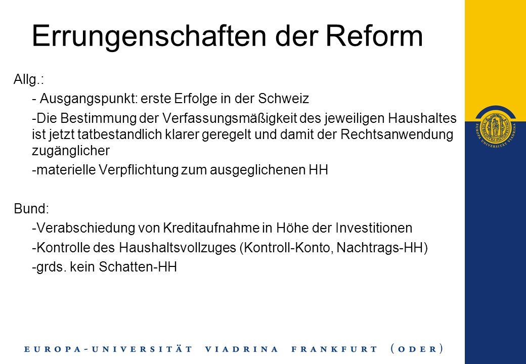 Errungenschaften der Reform