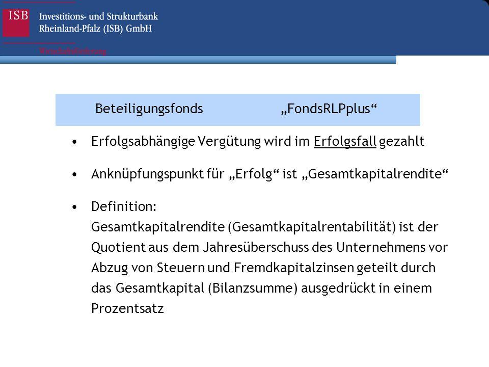"""Beteiligungsfonds """"FondsRLPplus"""