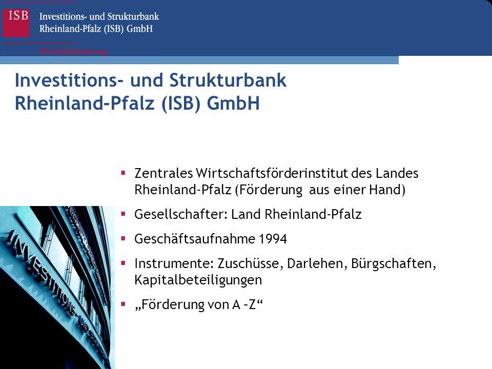 Investitions- und Strukturbank Rheinland-Pfalz (ISB) GmbH