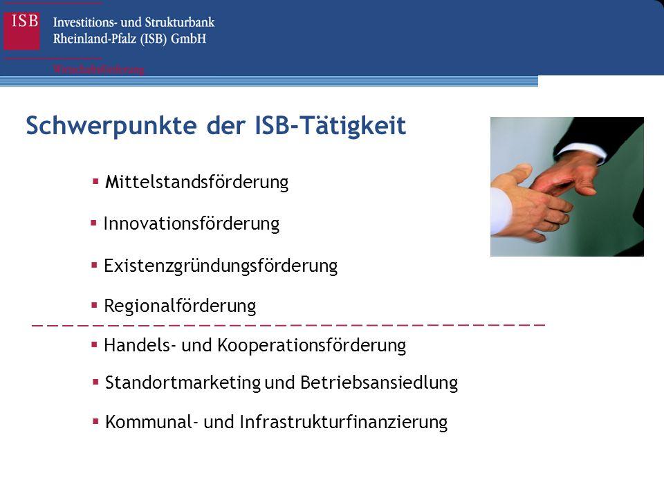 Schwerpunkte der ISB-Tätigkeit