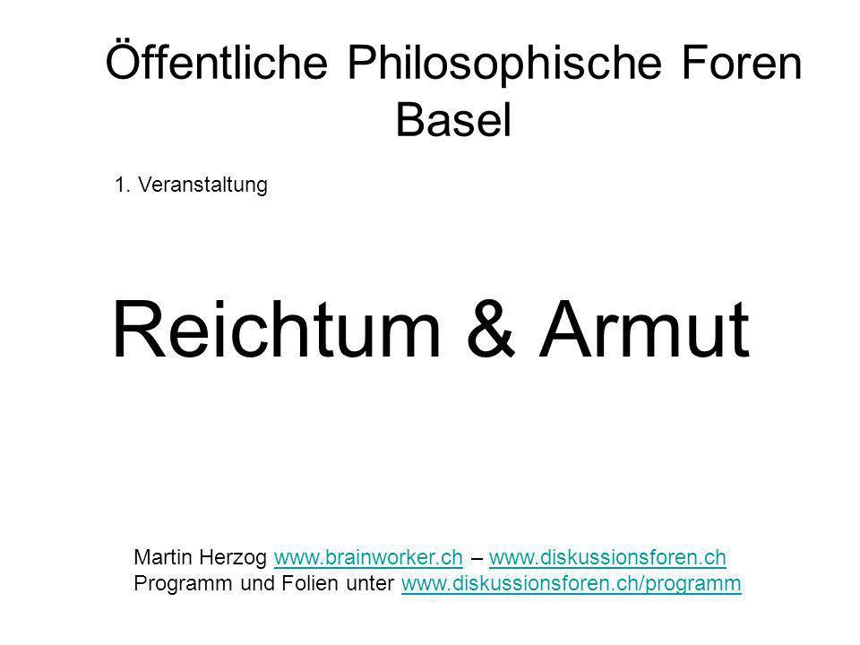 Öffentliche Philosophische Foren Basel