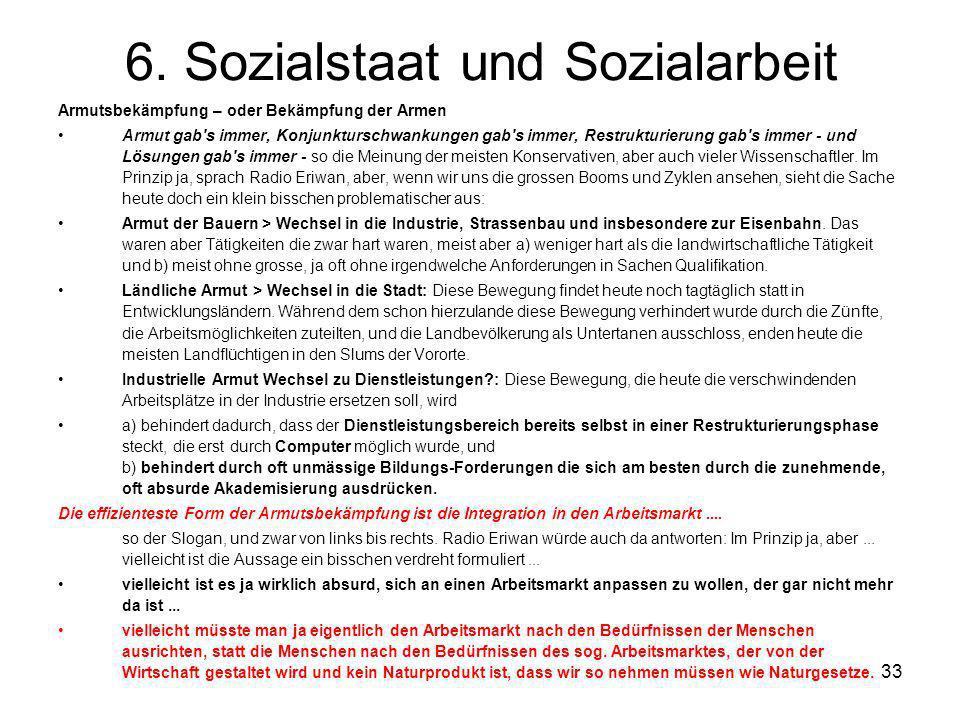 6. Sozialstaat und Sozialarbeit