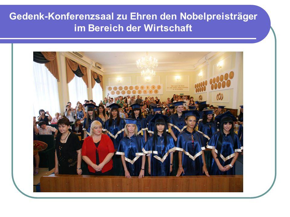 Gedenk-Konferenzsaal zu Ehren den Nobelpreisträger im Bereich der Wirtschaft