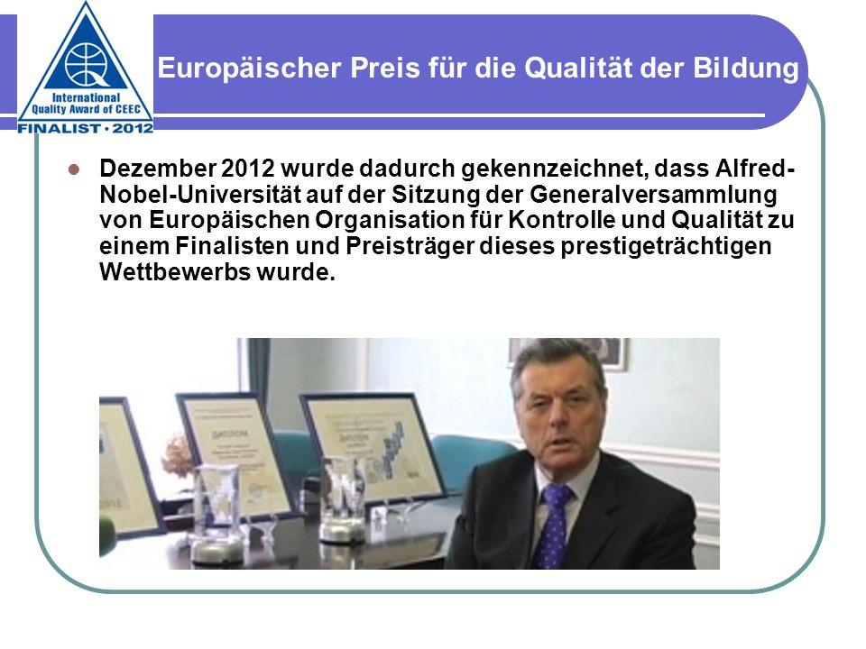 Europäischer Preis für die Qualität der Bildung