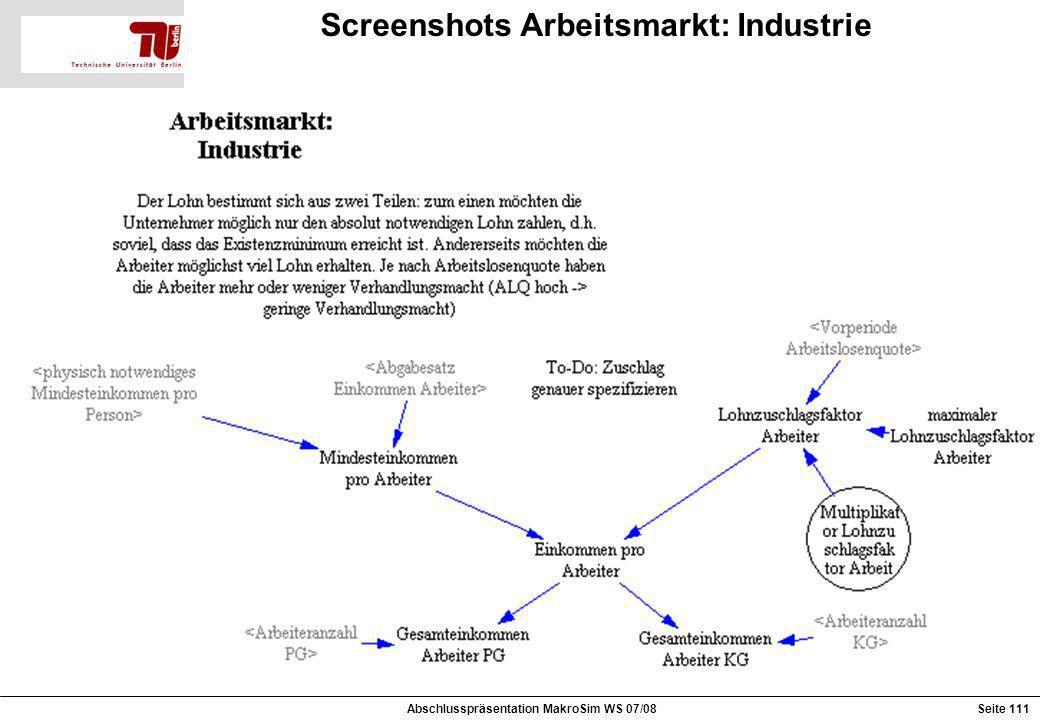 Screenshots Arbeitsmarkt: Industrie