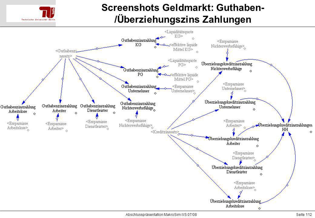 Screenshots Geldmarkt: Guthaben-/Überziehungszins Zahlungen