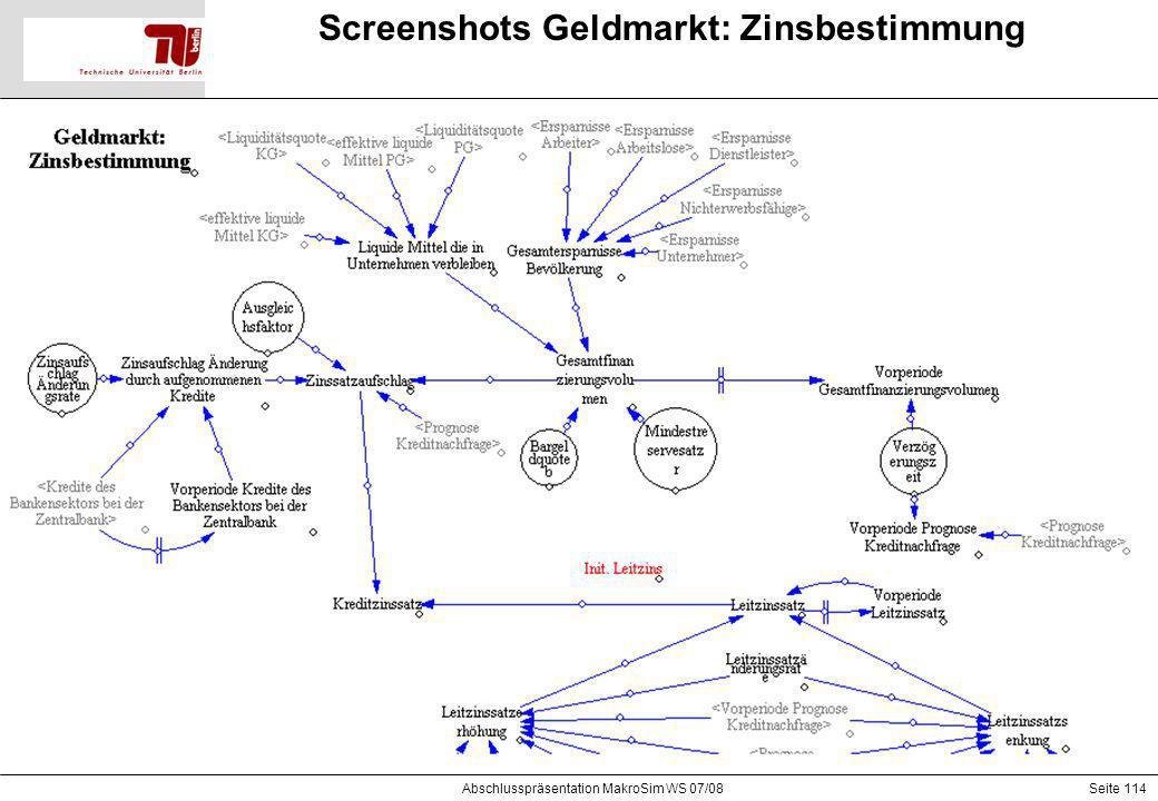 Screenshots Geldmarkt: Zinsbestimmung