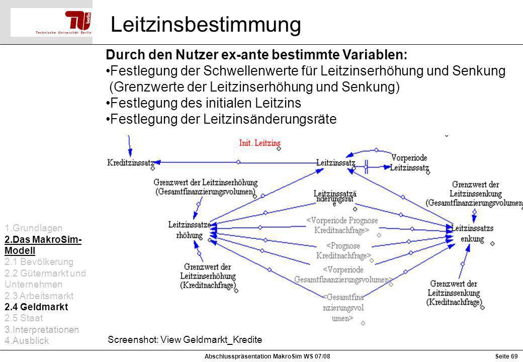 Abschlusspräsentation MakroSim WS 07/08