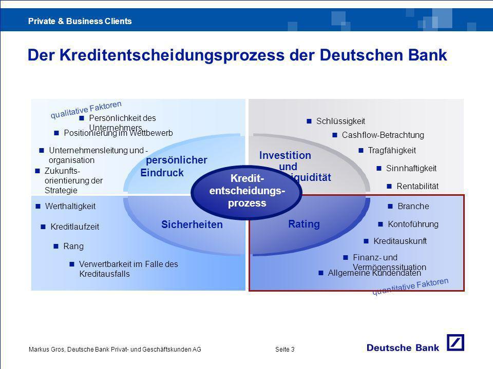 Der Kreditentscheidungsprozess der Deutschen Bank