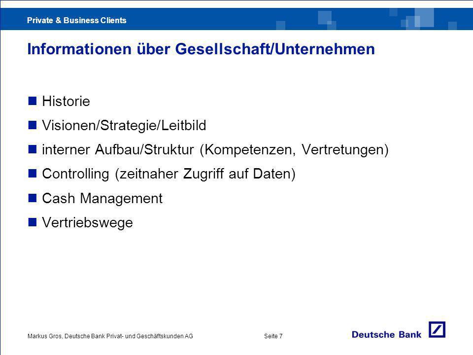Informationen über Gesellschaft/Unternehmen