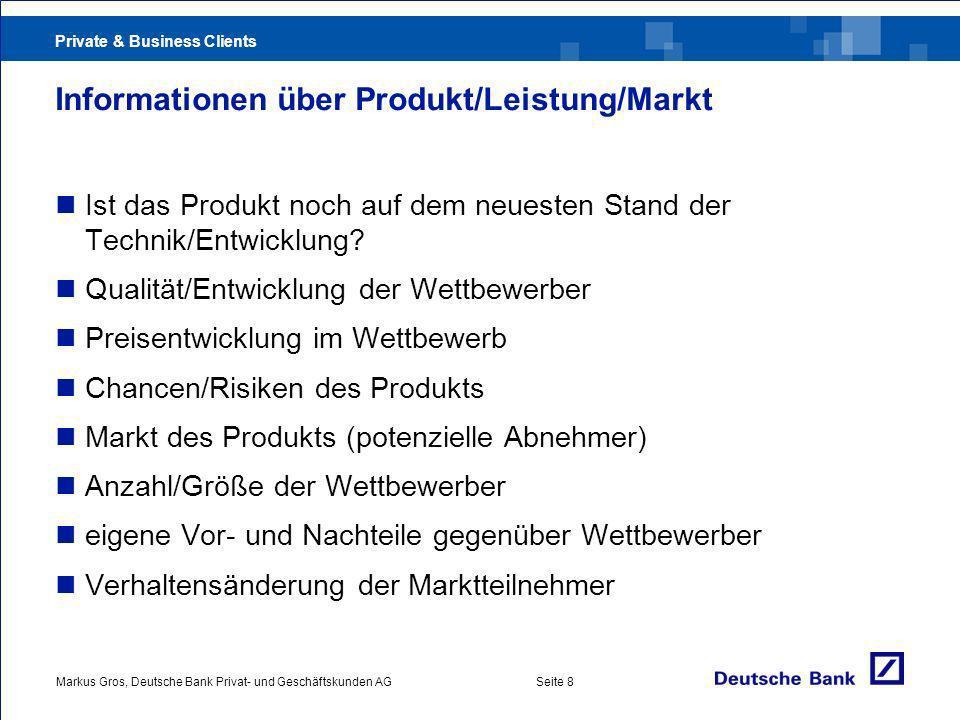 Informationen über Produkt/Leistung/Markt
