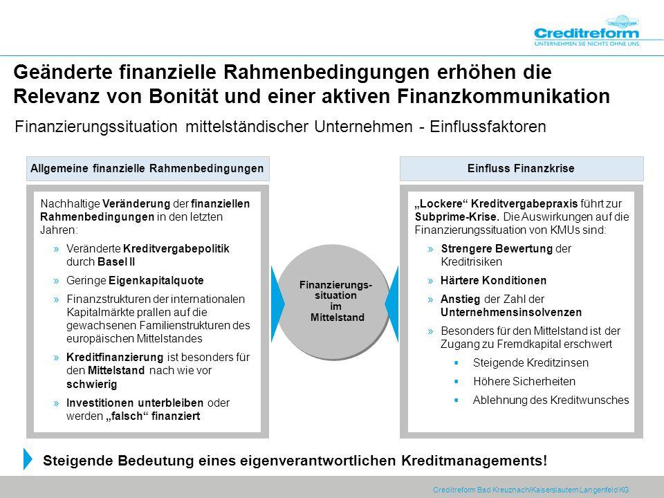Allgemeine finanzielle Rahmenbedingungen