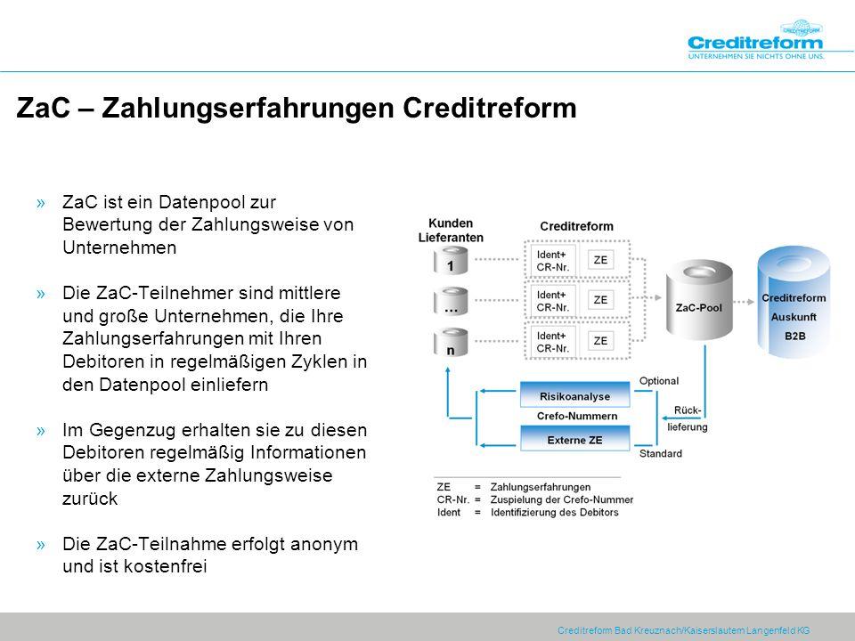 ZaC – Zahlungserfahrungen Creditreform