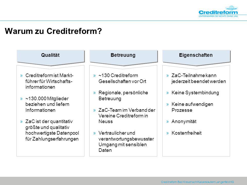 Warum zu Creditreform Qualität Betreuung Eigenschaften