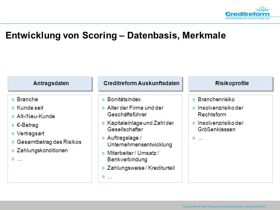 Entwicklung von Scoring – Datenbasis, Merkmale