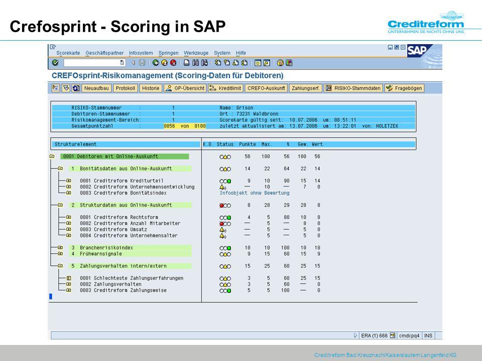 Crefosprint - Scoring in SAP