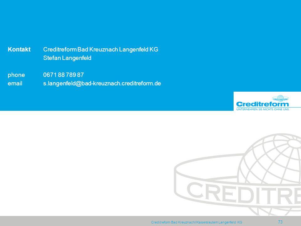 Kontakt Creditreform Bad Kreuznach Langenfeld KG