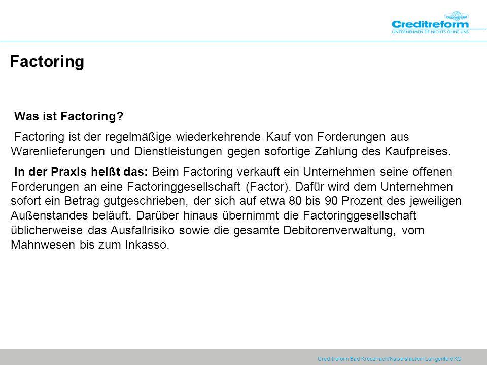 Factoring Was ist Factoring