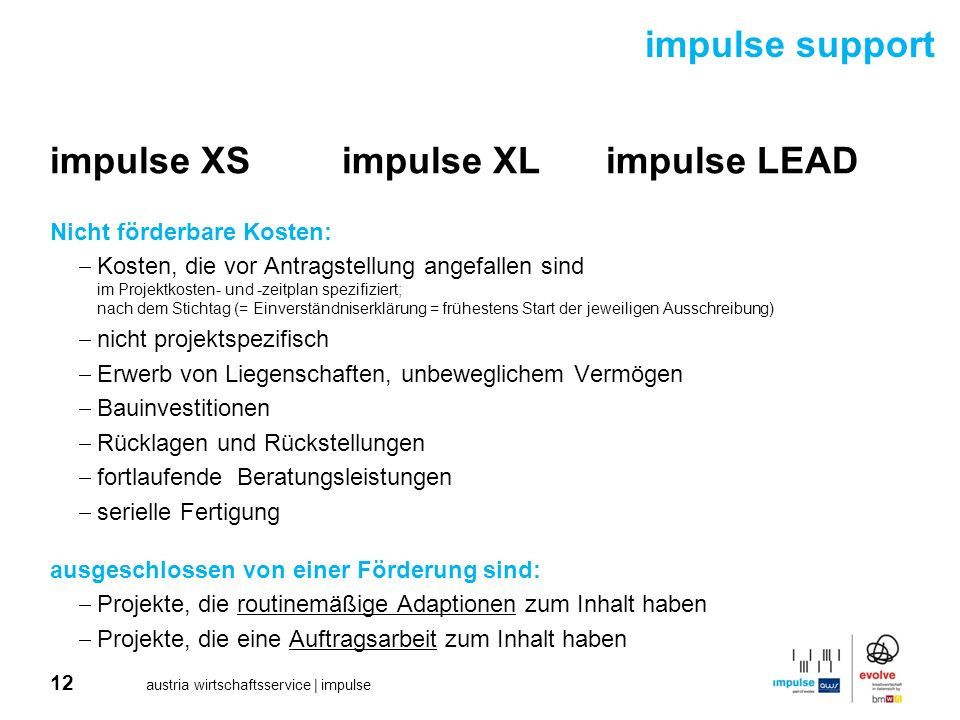 impulse XS impulse XL impulse LEAD