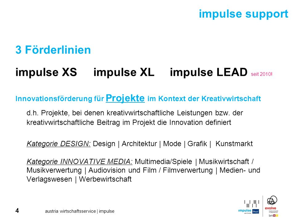 impulse XS impulse XL impulse LEAD seit 2010!