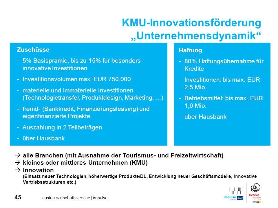 "KMU-Innovationsförderung ""Unternehmensdynamik"