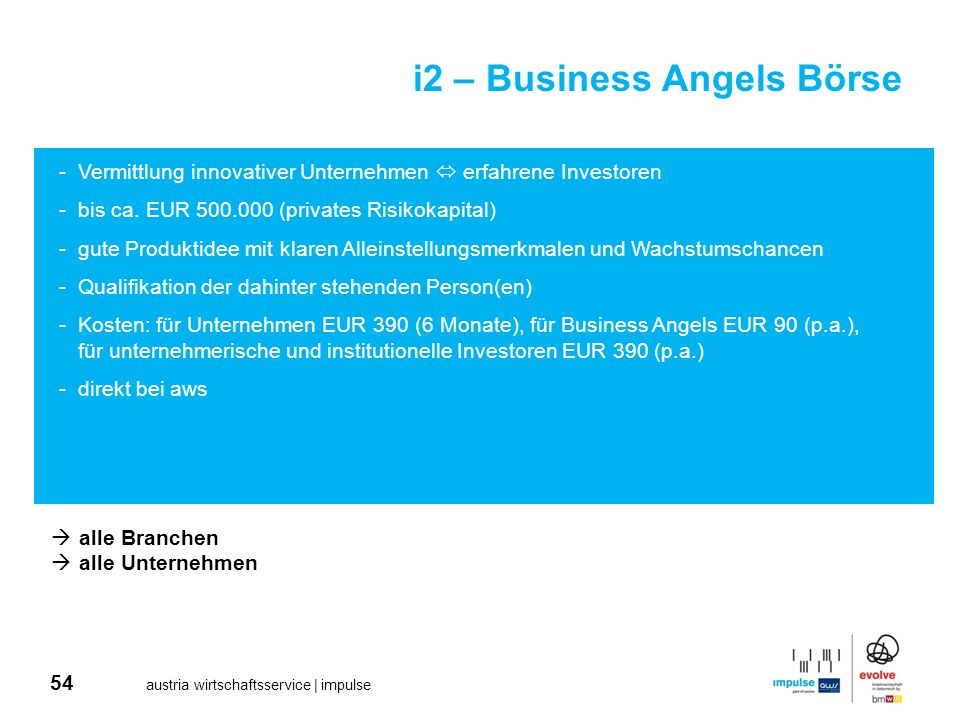 i2 – Business Angels Börse