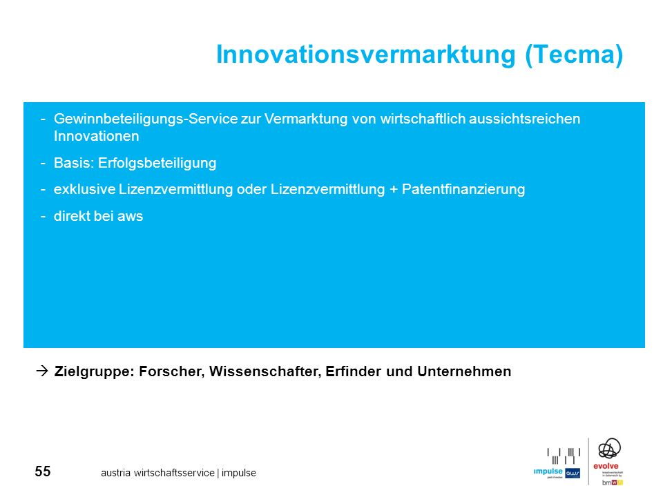 Innovationsvermarktung (Tecma)