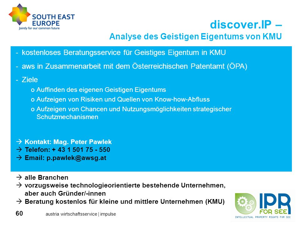discover.IP – Analyse des Geistigen Eigentums von KMU