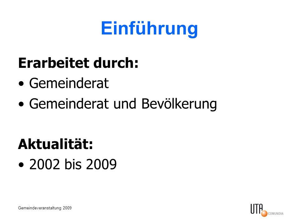 Einführung Erarbeitet durch: Gemeinderat Gemeinderat und Bevölkerung