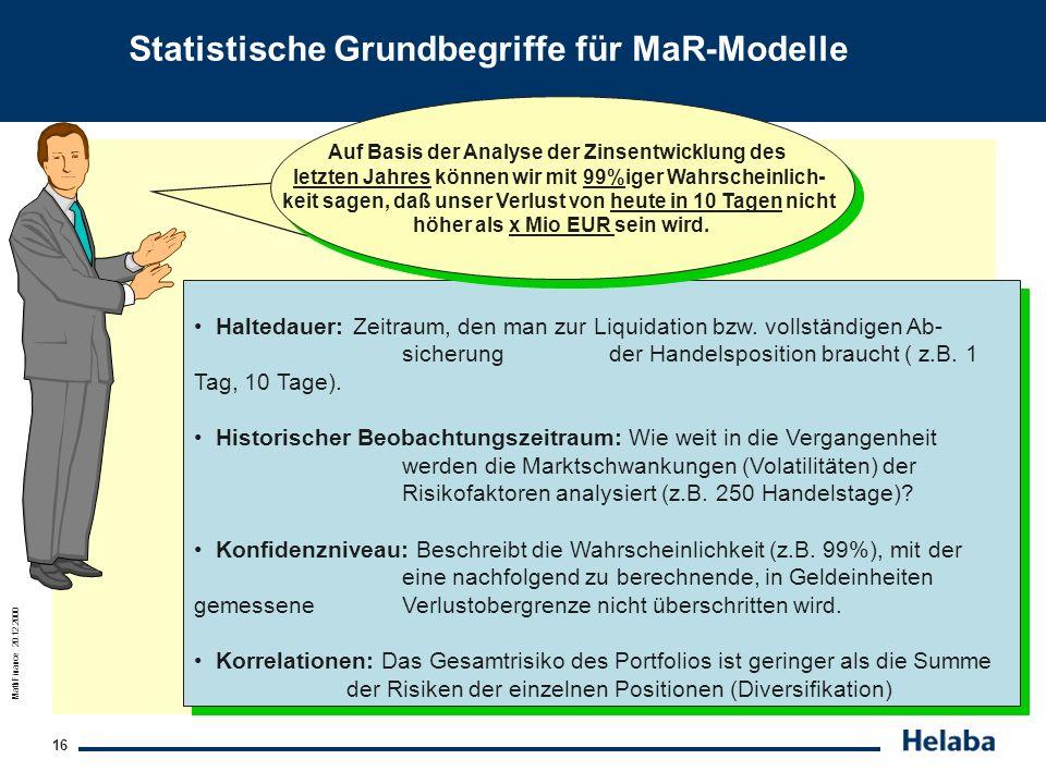 Statistische Grundbegriffe für MaR-Modelle