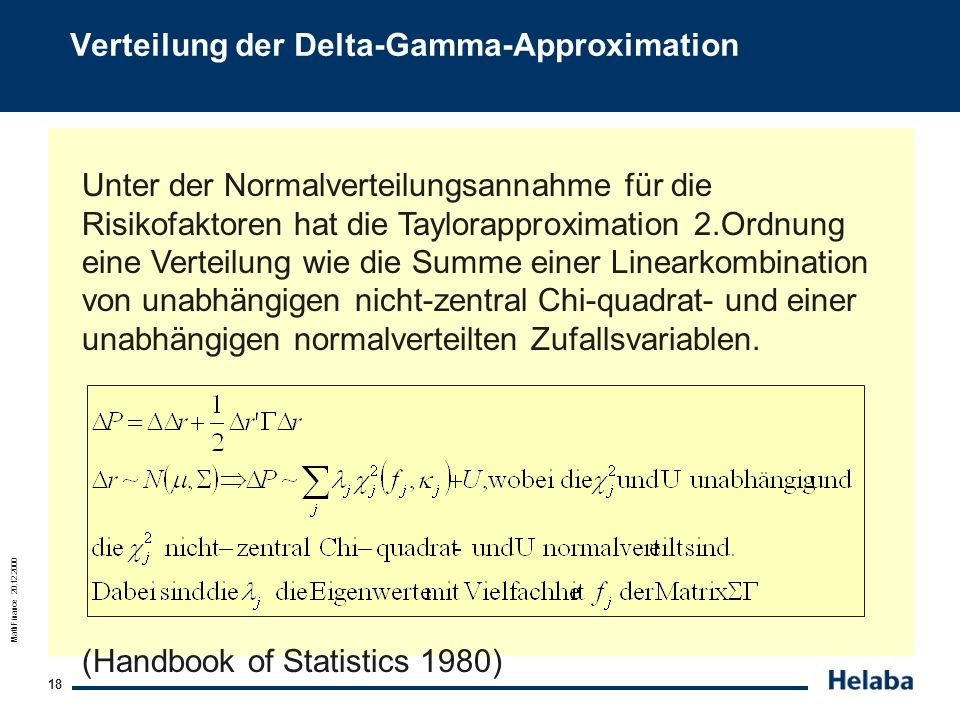Verteilung der Delta-Gamma-Approximation