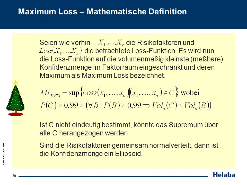 Maximum Loss – Mathematische Definition