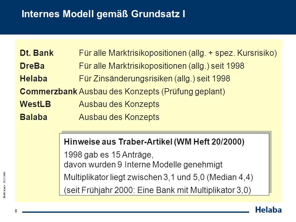 Internes Modell gemäß Grundsatz I