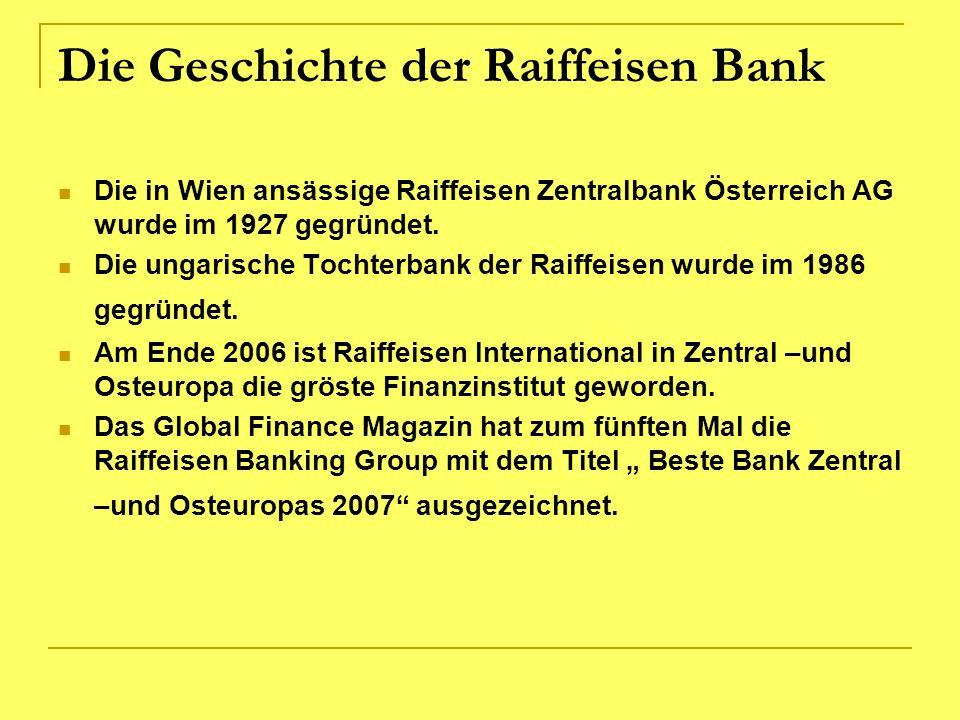 Die Geschichte der Raiffeisen Bank