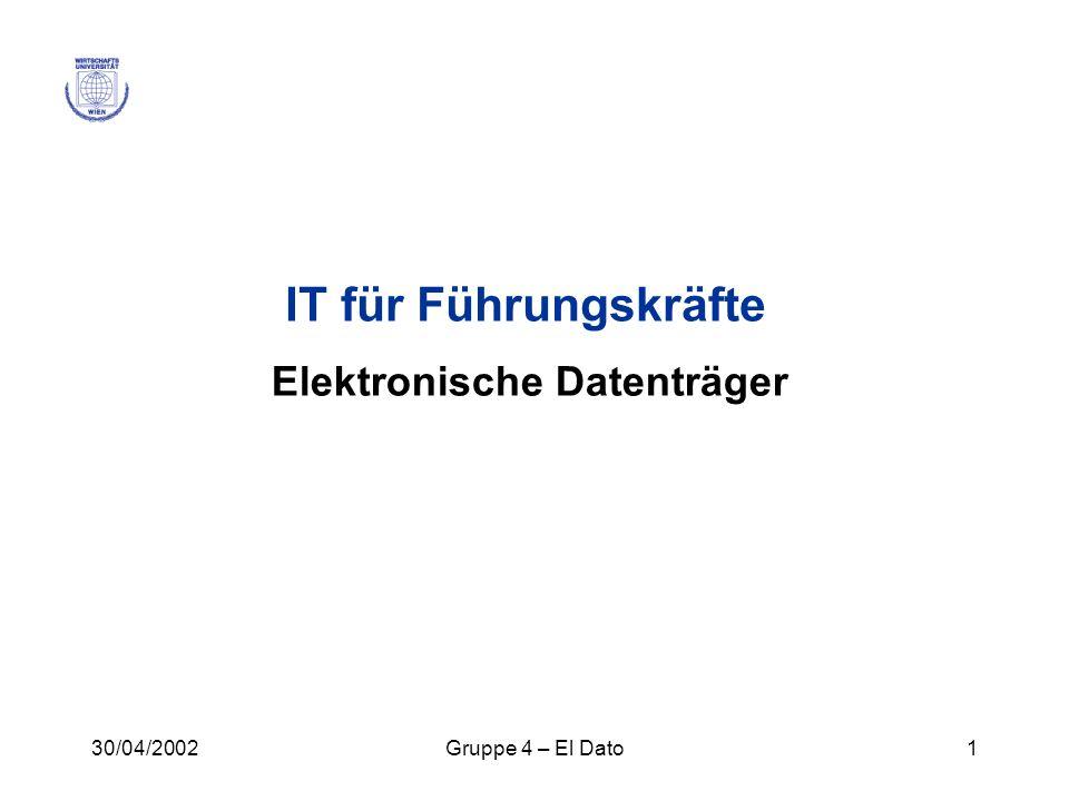 Elektronische Datenträger