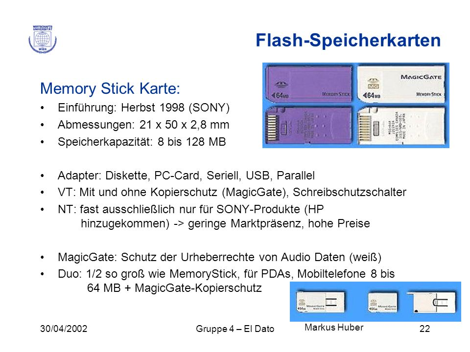 Flash-Speicherkarten