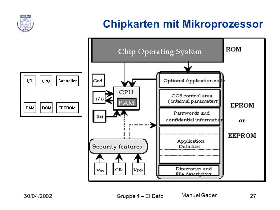 Chipkarten mit Mikroprozessor
