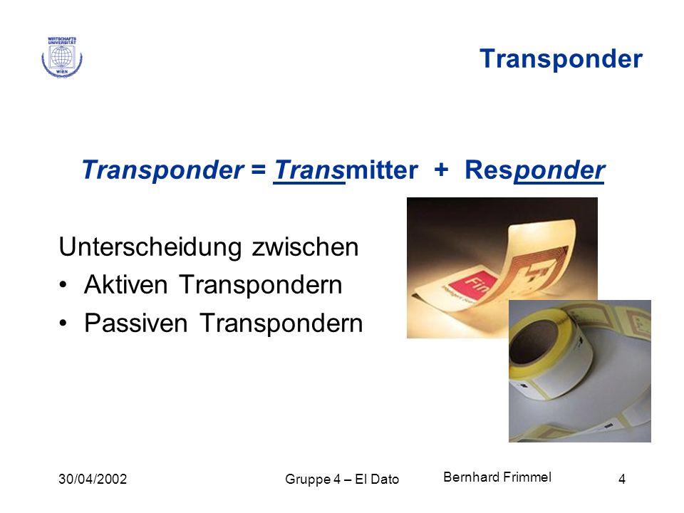 Transponder = Transmitter + Responder