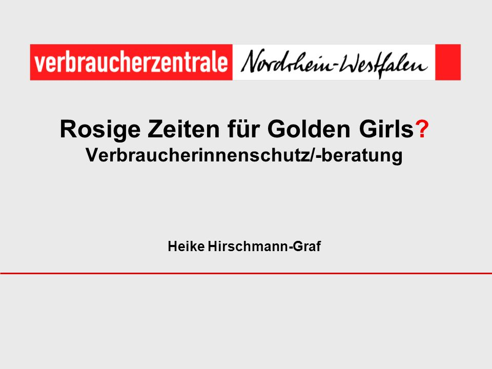 Rosige Zeiten für Golden Girls