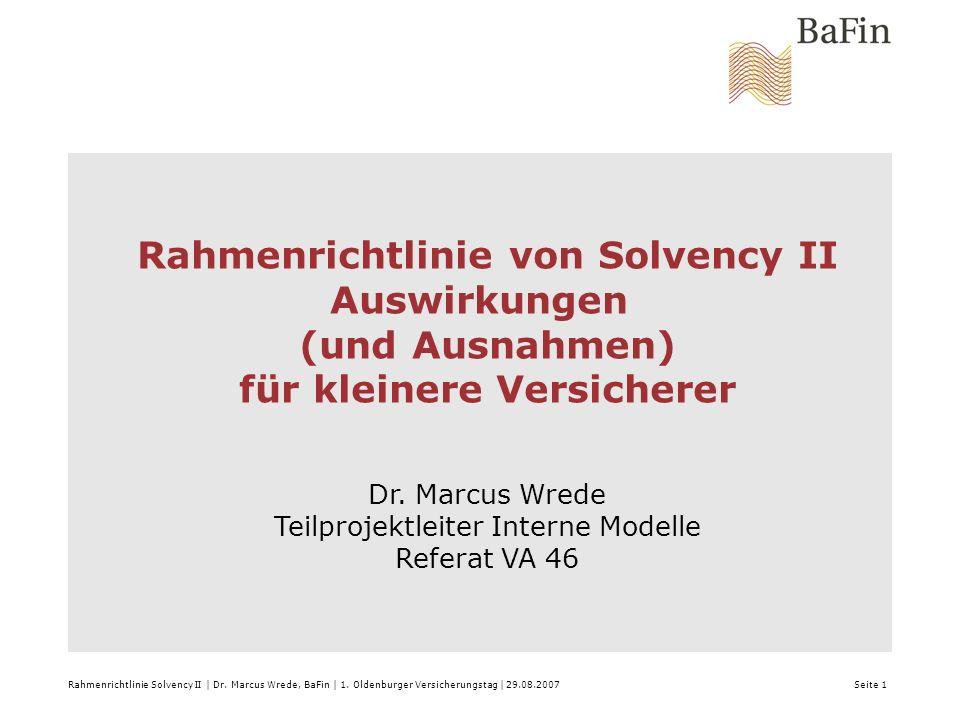 Rahmenrichtlinie von Solvency II für kleinere Versicherer
