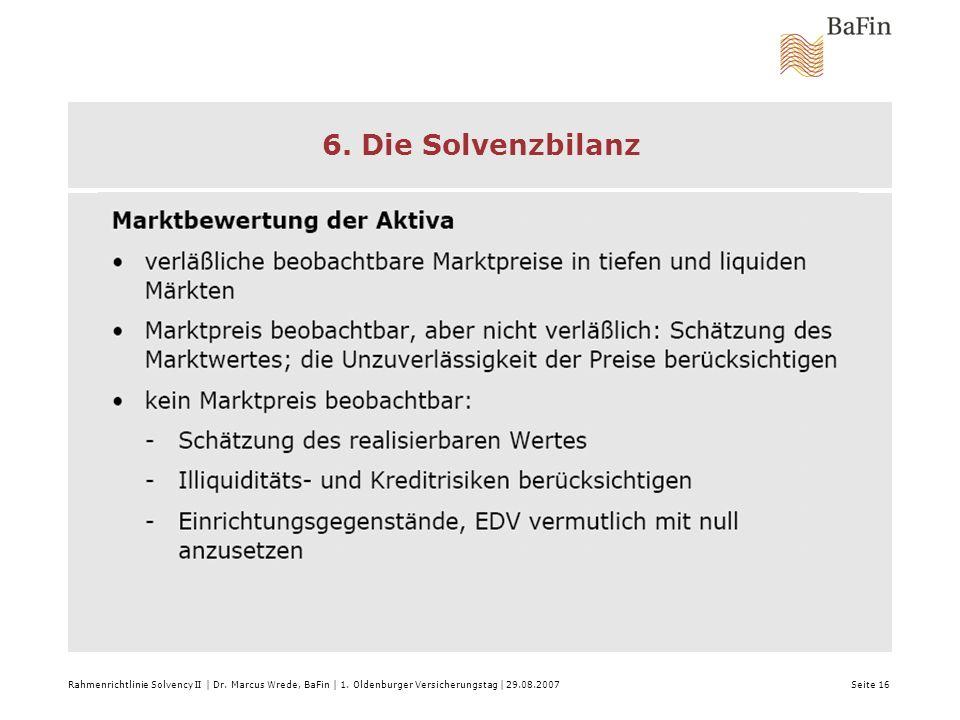 6. Die Solvenzbilanz