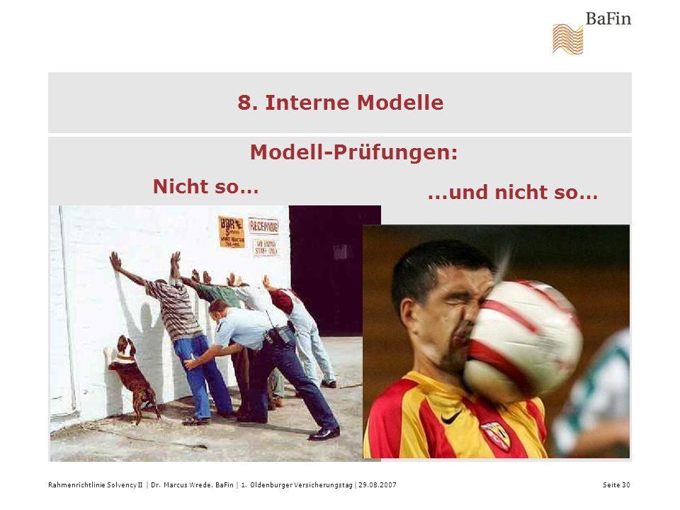 8. Interne Modelle Modell-Prüfungen: Nicht so… ...und nicht so…