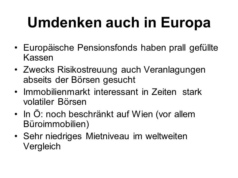 Umdenken auch in Europa