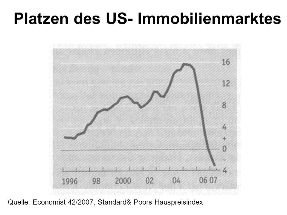 Platzen des US- Immobilienmarktes