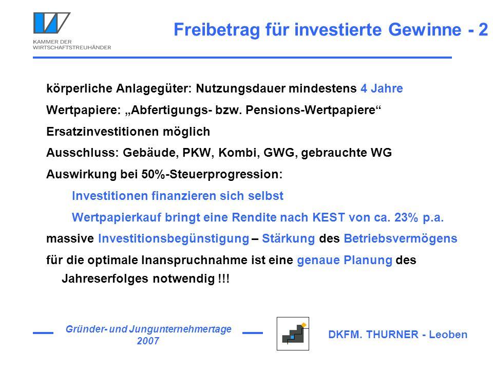 Freibetrag für investierte Gewinne - 2