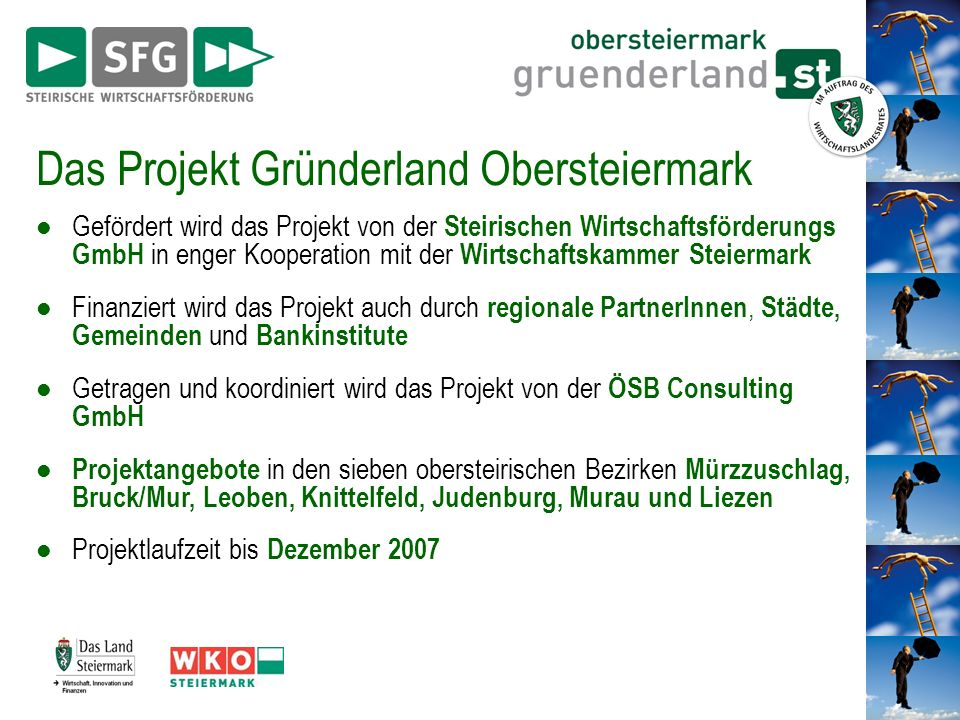 Das Projekt Gründerland Obersteiermark
